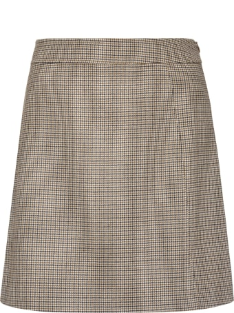 A.P.C. Sonia Checked Wool Mini Skirt