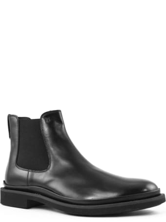 Tod's Ankle Boots In Black Shiny Leather