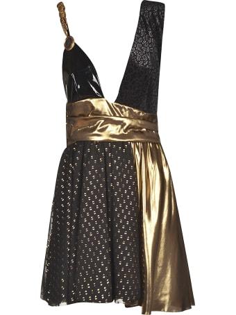 Fausto Puglisi Embellished Draped Sleeveless Dress