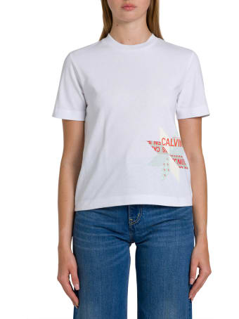 Calvin Klein Jeans Institutional Tee With Patchwork Print