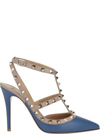 Valentino Garavani Ankle Strap Rockstud Pumps