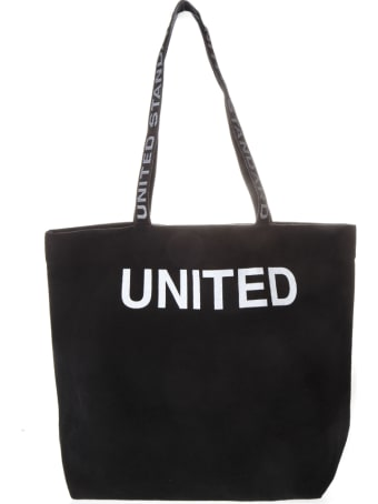 United Standard Black Cotton Tote Bag With Logo