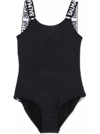 Balmain Black Logo Swimsuit