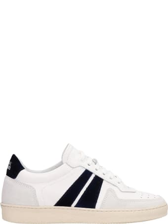 National Standard White Leather And Suede Low Sneakers