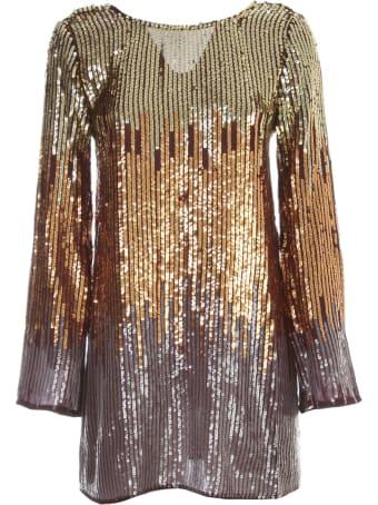 RIXO Dress L/s Mini Sequin