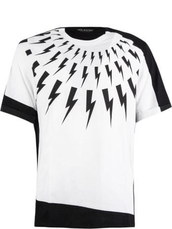 Neil Barrett White Cotton T-shirt