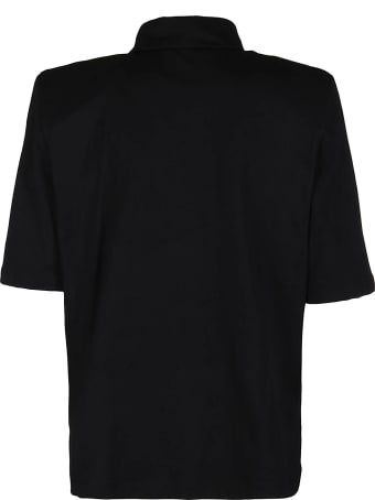 The Attico Black Cotton Polo Shirt