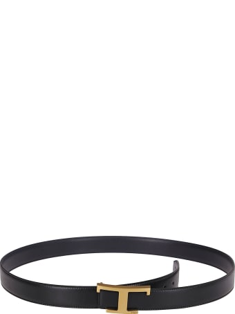 Tod's Black And Navy Leather Belt