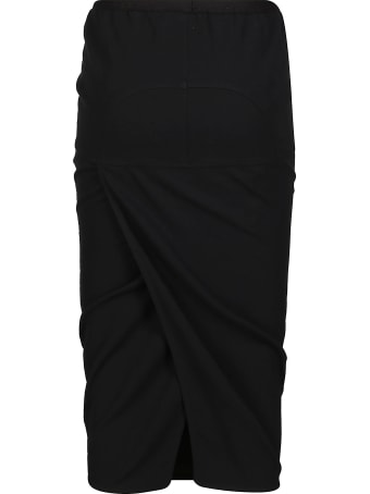 Rick Owens Black Cotton-blend Skirt