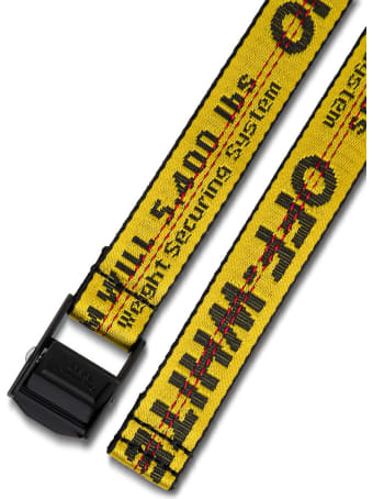 Off-White Industrial Belt In Black And Yellow Nylon