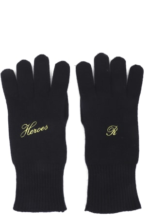 Raf Simons Navy Gloves