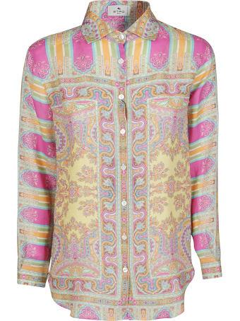 Etro Pink Ramie Shirt