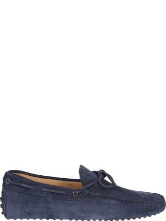 Tod's Blue Suede Gommino Driving Shoes