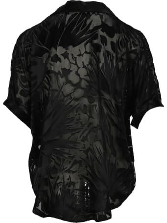 Saint Laurent Tropical Flower Print Shirt