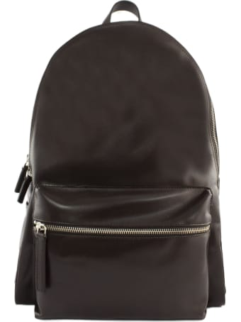 Orciani Liberty Brown Leather Backpack