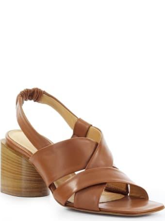 Halmanera Light Brown Nappa Leather Sandal
