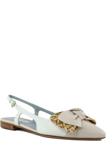 Roberto Festa White And Beige Celine Sandal
