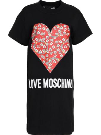 Love Moschino Printed Cotton Sweatdress