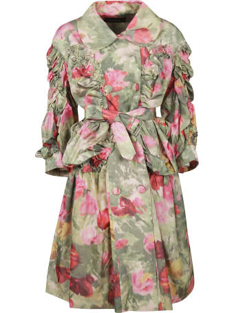 Simone Rocha Floral Belted Coat