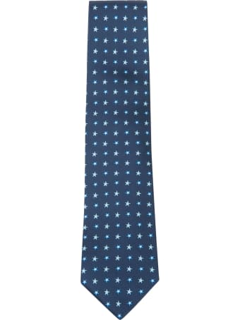 Eddy Monetti Star Motif Print Neck Tie