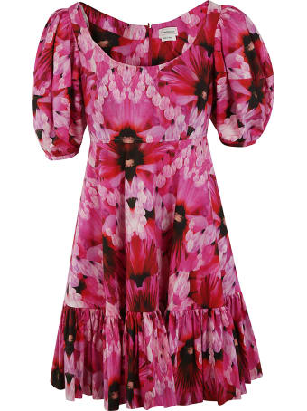 Alexander McQueen Floral Print Mid-length Dress