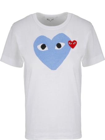 Comme des Garçons Play Play Heart Print T-shirt