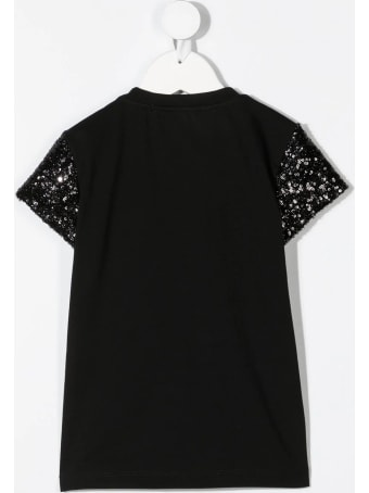 Balmain Kid Black Balmain Balmain T-shirt With Sequins