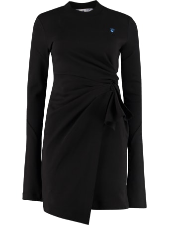 Off-White Draped Sheath Dress