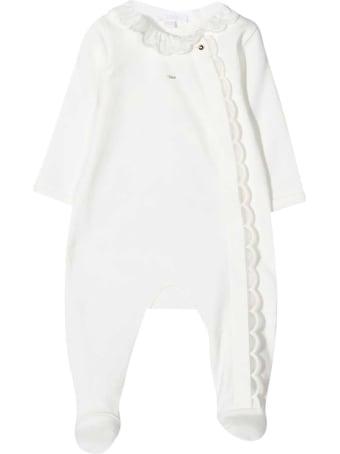 Chloé White Chloé Kids Baby Suit