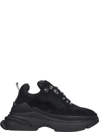Elena Iachi Sneakers In Black Nubuck