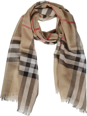 Burberry Sciarpa Giant Check Gauze