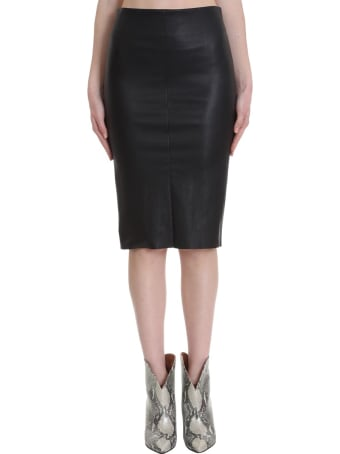 DROMe Skirt In Black Leather