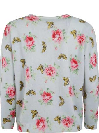 Prada Rose Print Cardigan