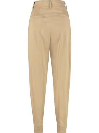 Alberta Ferretti Cotton Carrot-fit Pants