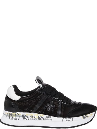 Premiata Black Nylon Sneakers
