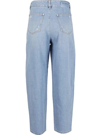 Chiara Ferragni Boyfriend Frange Crystal Jeans