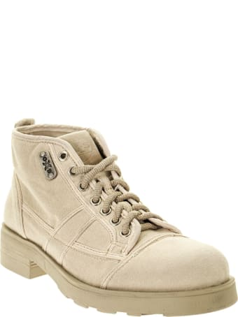 OXS Frank 1000 - Lace-up Ankle Boot In Canvas