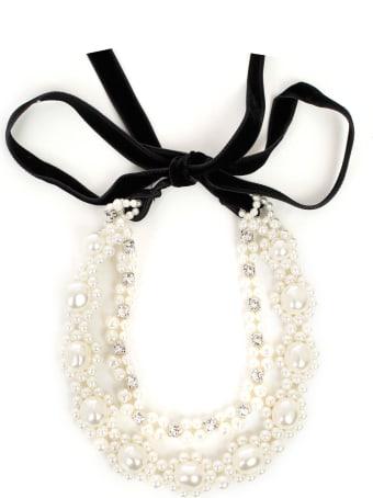Simone Rocha Necklace Pearl Velvet