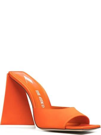 """The Attico Orange Satin """"devon"""" Mule"""