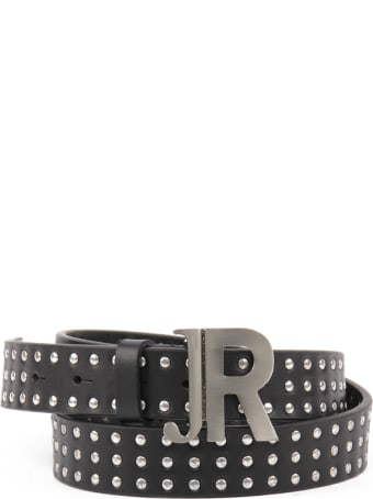 John Richmond Belt With Studs And Silver Logo