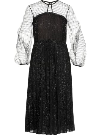 Marco de Vincenzo Lurex Pleated Dress