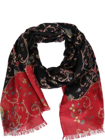 Etro Black Cashmere-silk Blend Scarf