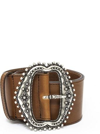 Etro Brown Leather Belt