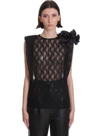 Magda Butrym Korononka Topwear In Black Polyamide