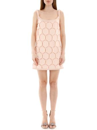 Marco de Vincenzo Geometrical Pleated Mini Dress