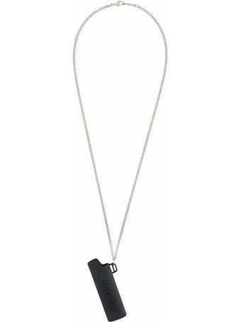 AMBUSH Black/silver-tone Brass Necklace