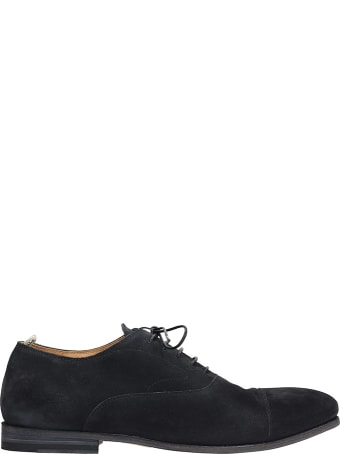 Officine Creative Revien 004 Lace Up Shoes In Black Suede