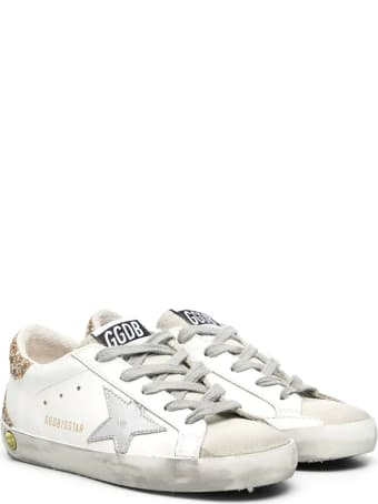 Golden Goose Superstar Sneakers With Glitter Back