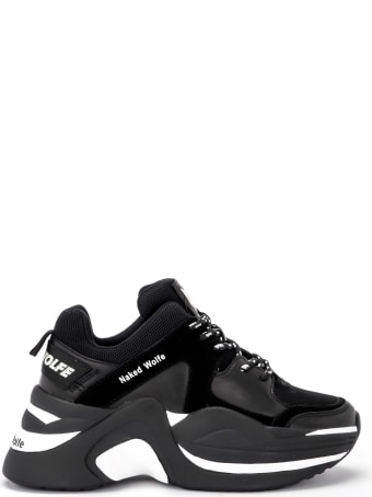 Naked Wolfe Track Black Leather And Suede Sneaker