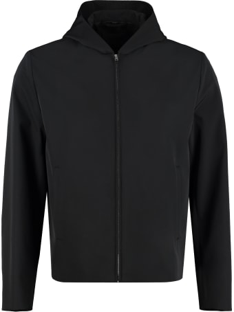 Prada Technical Fabric Hooded Jacket